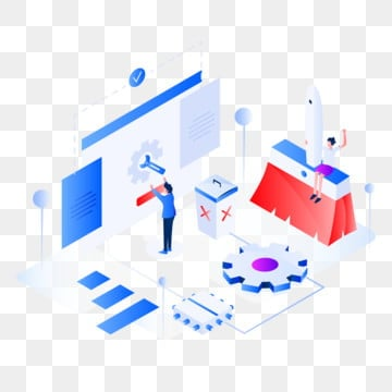 isometric flat design concept of web page design, Isometric, Data, Information PNG and Vector