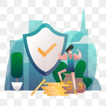 money security illustration concept  gradient color design concept of web page design for website and mobile website vector illustration, Vector, Money, Security PNG and Vector