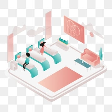 nap room illustration concept  isometric design concept of web page design for website and mobile website vector illustration, Isometric, Coworking, Space PNG and Vector