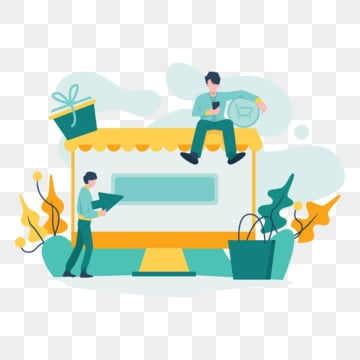 online shopping illustration concept  modern flat design concept of web page design for website and mobile website vector illustration, Technology, Internet, Online PNG and Vector