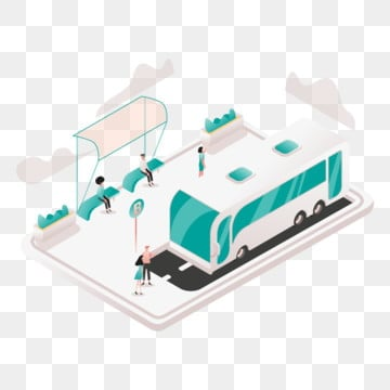 shuttle service illustration concept  isometric design concept of web page design for website and mobile website vector illustration, Isometric, Coworking, Space PNG and Vector