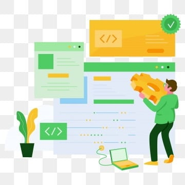 software developer illustration concept  modern flat design concept of web page design for website and mobile website vector illustration, Software, Web, Coding PNG and Vector