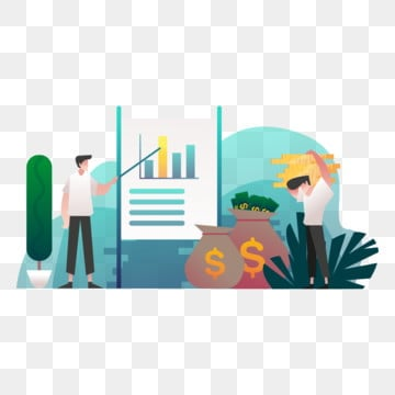stock analysis illustration concept  gradient color design concept of web page design for website and mobile website vector illustration, Chart, Data, Business PNG and Vector