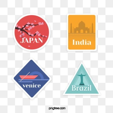 tourist place vintage wind stamp, Vintage Style, Tourism, Stamp Stickers PNG and Vector