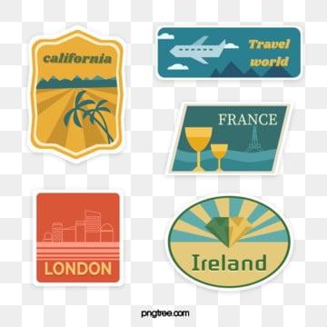 vintage wind travel stamp sticker, Vintage, Stamp, Sticker PNG and Vector