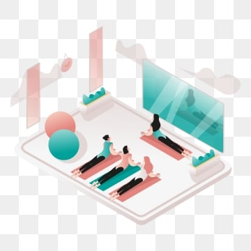 yoga and meditation room illustration concept  isometric design concept of web page design for website and mobile website vector illustration, Isometric, Coworking, Space PNG and Vector