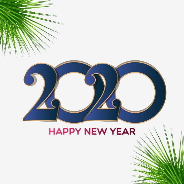 Happy New Year 2020 Greeting Card Design New Year Happy