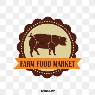 creative retro round pork farm supermarket label, Vintage, Pork, Poultry PNG and Vector