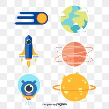 cute cartoon universe planet sticker, Cartoon, Sticker, Star PNG and Vector