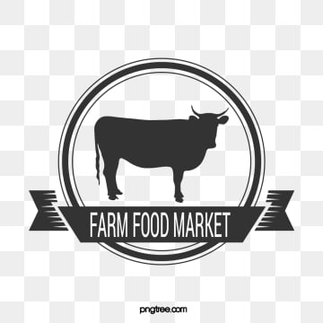 round black line farm supermarket banner label, Sign, Farm, Line PNG and Vector
