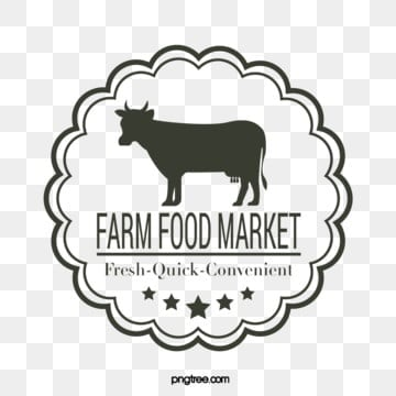round black pattern line five star modern farm supermarket logo, Farm, Supermarket, Black PNG and Vector