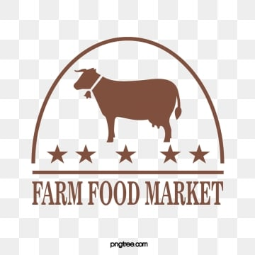 simple line arc five star farm supermarket label, Simple, Brown, Line PNG and Vector