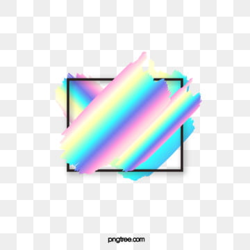 square holographic rainbow brush text border, Holographic, Rainbow, Texture PNG and Vector