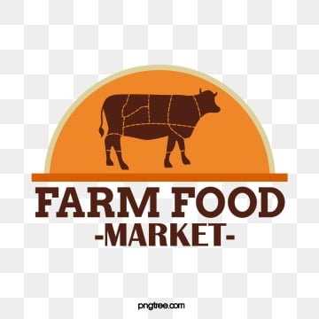 yellow farm supermarket poultry beef supermarket creative label, Farm, Supermarket, Sign PNG and Vector