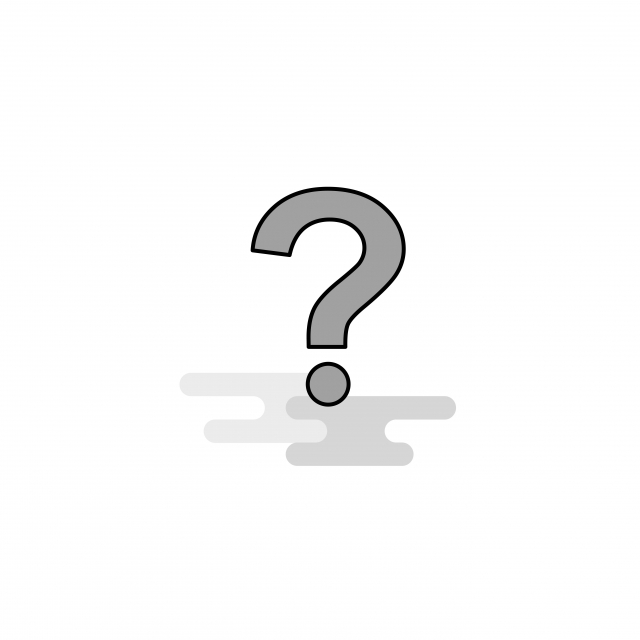 Question Mark Web Icon Flat Line Filled Gray Icon Vector