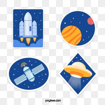 cosmic space creative element, Universe, Spacecraft, Artificial Satellite PNG and Vector