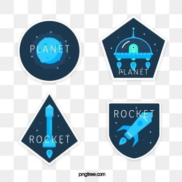 spaceship creative element, Star, Universe, Creative Sticker PNG and Vector