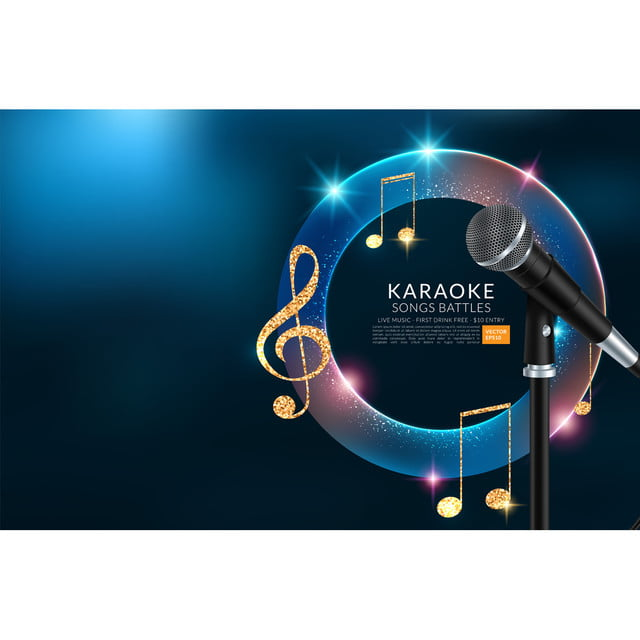 Plantilla De Volante De Karaoke Fiesta Invitación Vector