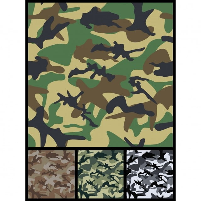 Seamless Military Camouflage Patterns For Print Or Textile