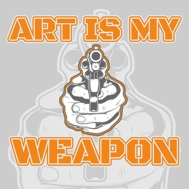 Vector De Cotización Sobre Arte De Armas Es Mi Arma Mano