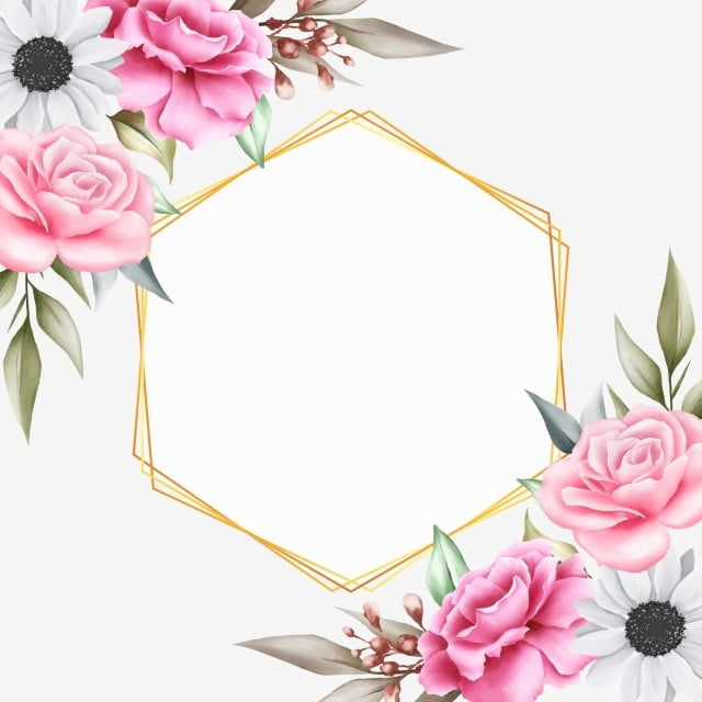 beautiful floral background with geometric for invitation