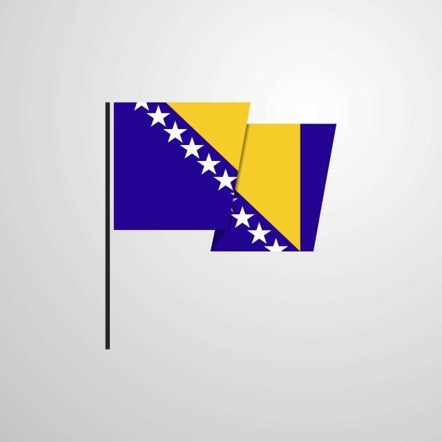 Bosnia Dan Herzegovina Melambai Bendera Reka Bentuk Latar Belakang Vektor Satu Pertama Bih Gambar Png Dan Vektor Untuk Muat Turun Percuma