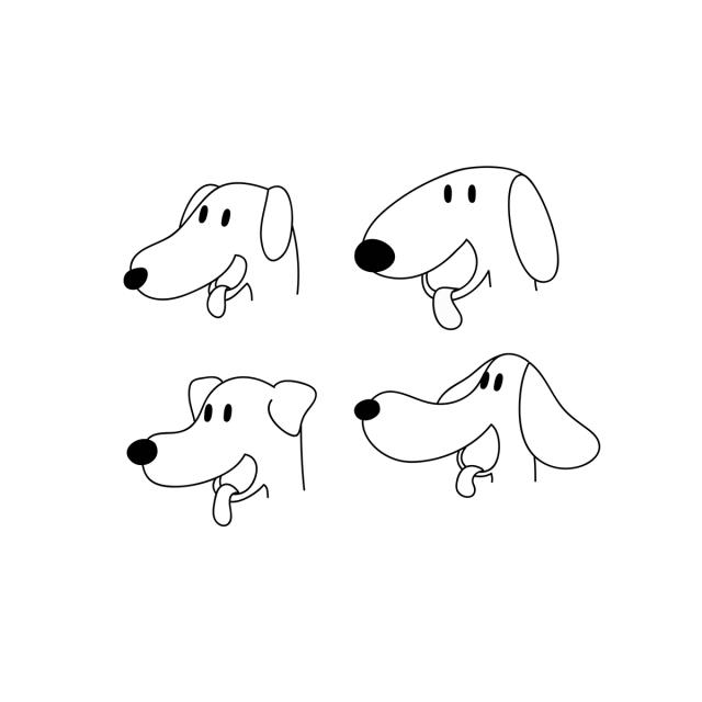 Gambar Anjing Lucu Wajah Gaya Digambar Tangan Wajah Kartun Imut Png Dan Vektor Dengan Latar Belakang Transparan Untuk Unduh Gratis