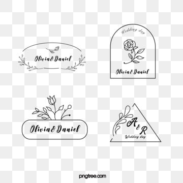 black linear border flower decoration wedding newcomer brand, Linear, Wedding, Bride And Groom PNG and Vector