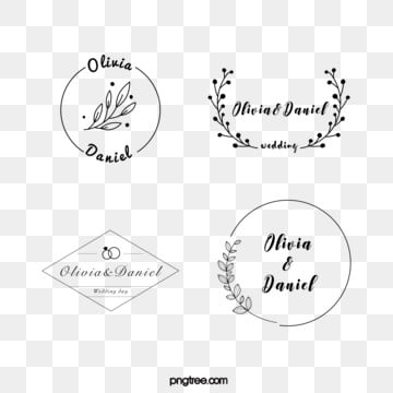 black linear border flower decoration wedding newcomer brand, Leaf, Flower, Ring PNG and Vector