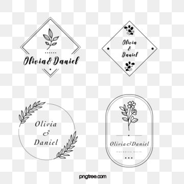 black linear border flower decoration wedding newcomer brand, Leaf, Flower, Marry PNG and Vector