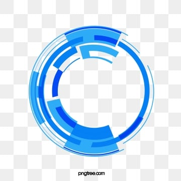blue tech data circle, Line Segment, Line, Round PNG and Vector