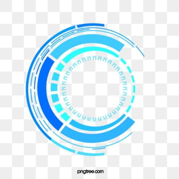 blue tech data circle, Round, Ring, Line PNG and Vector