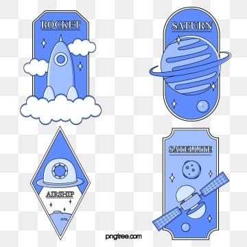 creative retro universe sticker, Universe, Sticker, Creative PNG and Vector