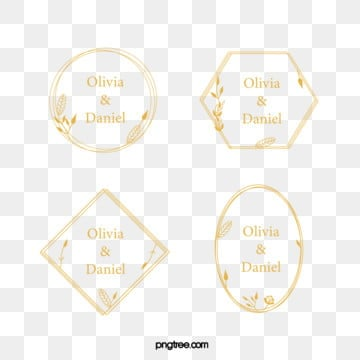 gold wireframe wedding newcomer name tag, Gold Wireframe, Golden Border, Multilayer Wire Frame PNG and Vector