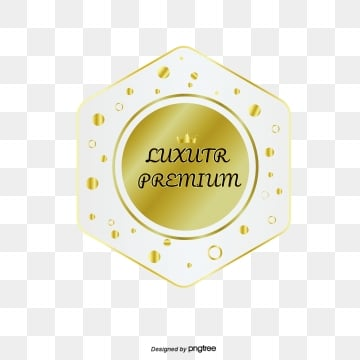 golden alphabet geometric badge, Quality, Power, Sticker PNG and Vector