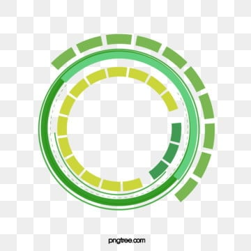 green technology data circle, Line, Line Segment, Ring PNG and Vector