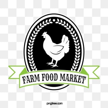 two color linear farm supermarket label, Farm, Chicken, Poultry PNG and Vector