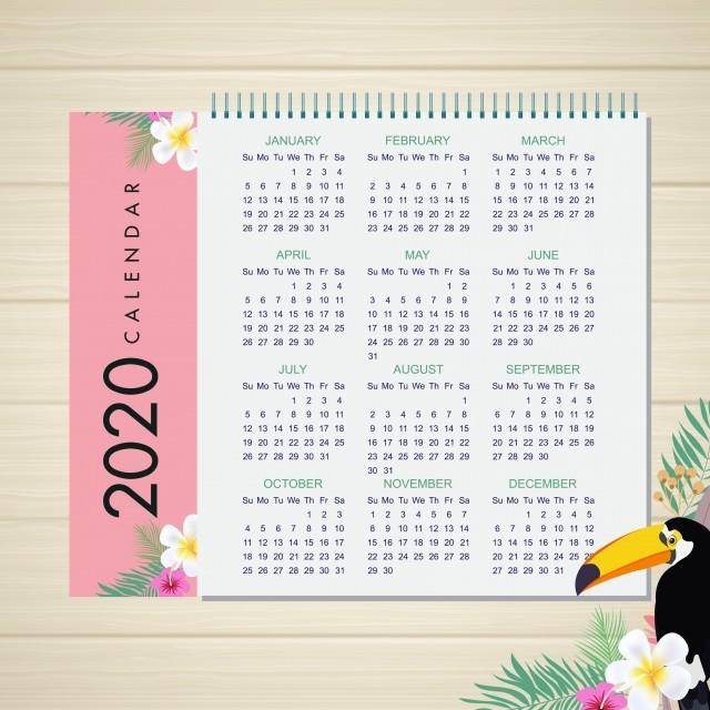 Vector De Calendario 2020.2020 Beautiful Calendar Design 2020 Calendar Calendar