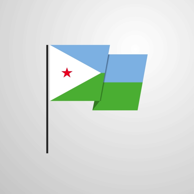 Djibouti Waving Flag Design Vector Background 27 27th Africa Png And Vector With Transparent Background For Free Download