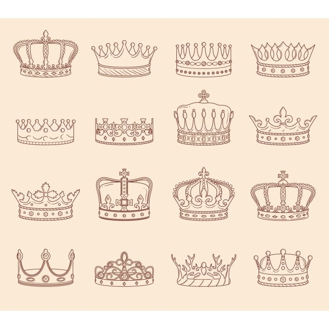 King And Queen Crown Drawings Crown King Queen Png And Vector