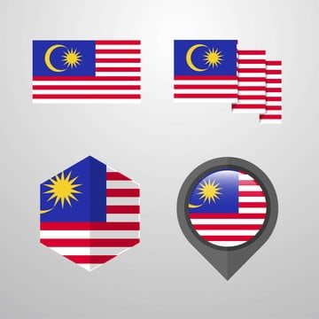 malaysia flag design set vector, 16, 16th, Asia PNG and Vector