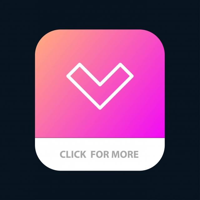 Seta Para Baixo Volta App Móvel Android And Ios Line Version