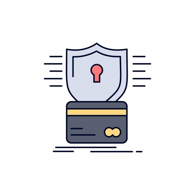 Hack Thẻ Tín Dụng An Ninh Hack Hack Biểu Tượng Màu Phẳng Vector Hoạt