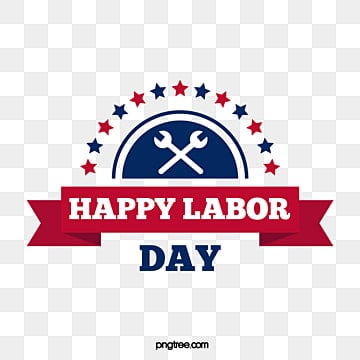 creative banner star wrench hand labor day simple art word Fonts