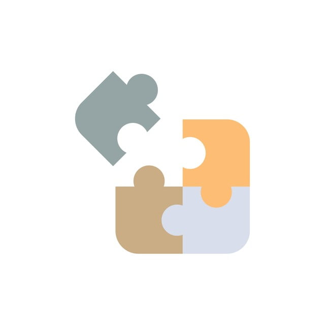 Jigsaw Puzzle Science Solution Flat Color Icon Vector Icon ...