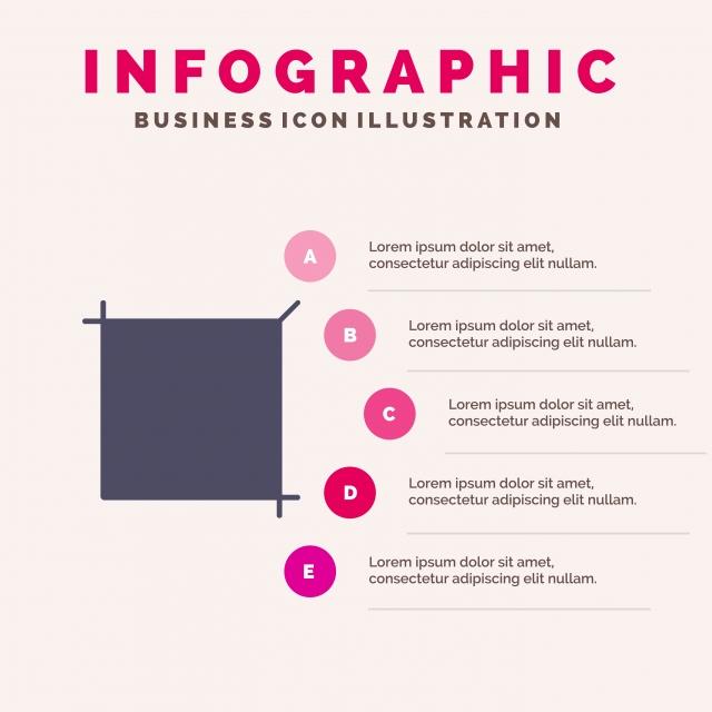 Outil De Recadrage Icône Solide Infographie Présentation 5