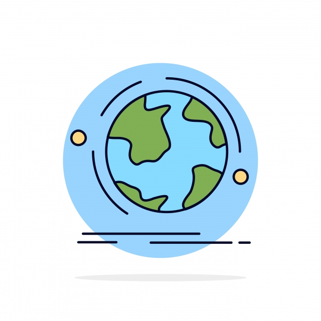Globe World Discover Connection Network Flat Color Icon Vect Color Icons 3d Business Png And Vector With Transparent Background For Free Download