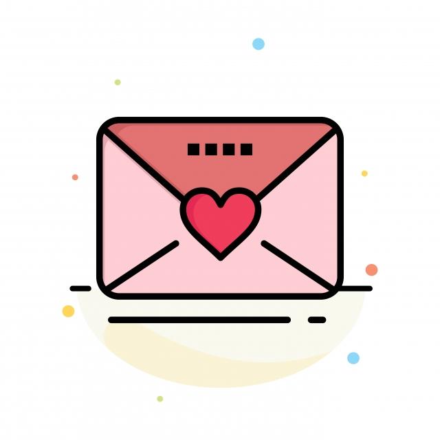 Sms Amour Mariage Coeur Abstrait Plat Icône Modèle Arrow