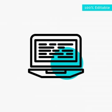 laptop coding code screen computer turquoise highlight circl, Background, Business, Code PNG and Vector
