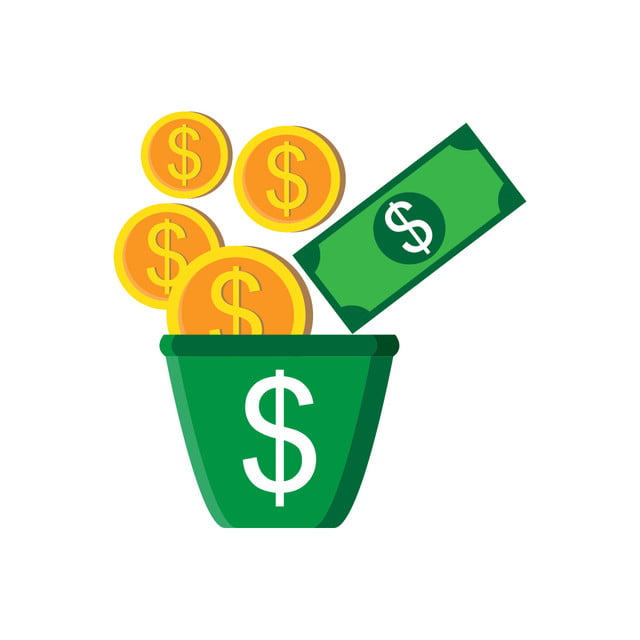 Bucket Full Money Dollar, Dollar Clipart, Money Icons, Dollar Icons PNG and Vector with Transparent Background for Free Download